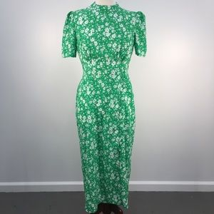 ASOS Green & White Floral Spring Summer Dress